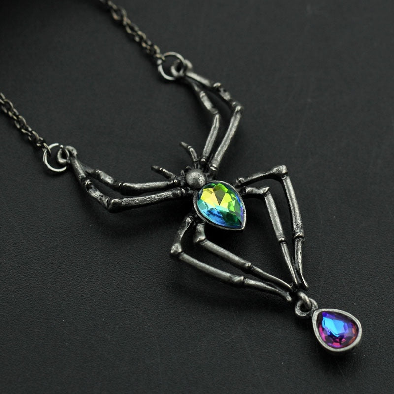 FREE! Stained Glass Spider Necklace