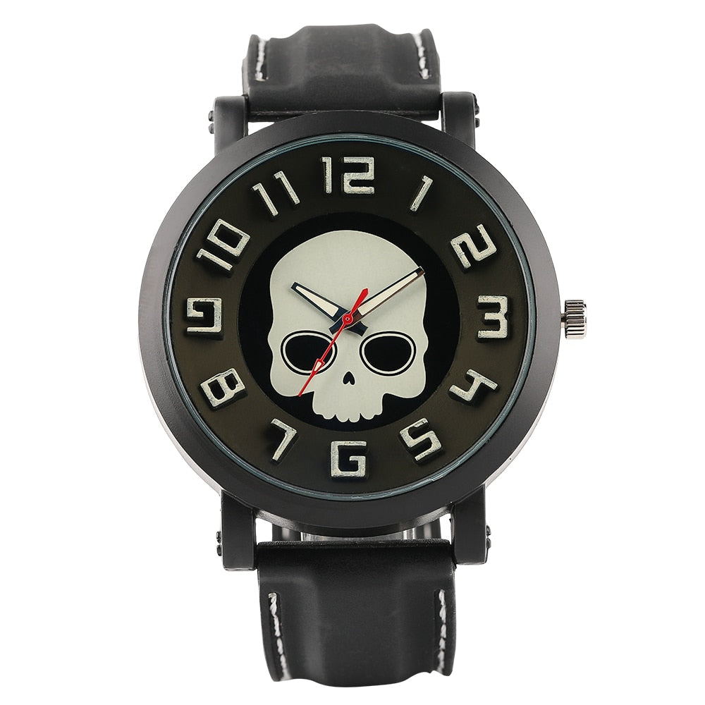 Steampunk Skull Pattern Wrist Watch