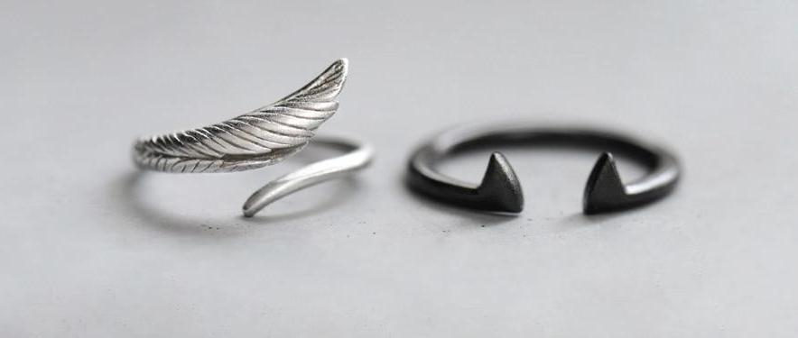 Angel Wings and Devil Handmade Ring - 30% OFF + FREE SHIPPING - The Creative Booth