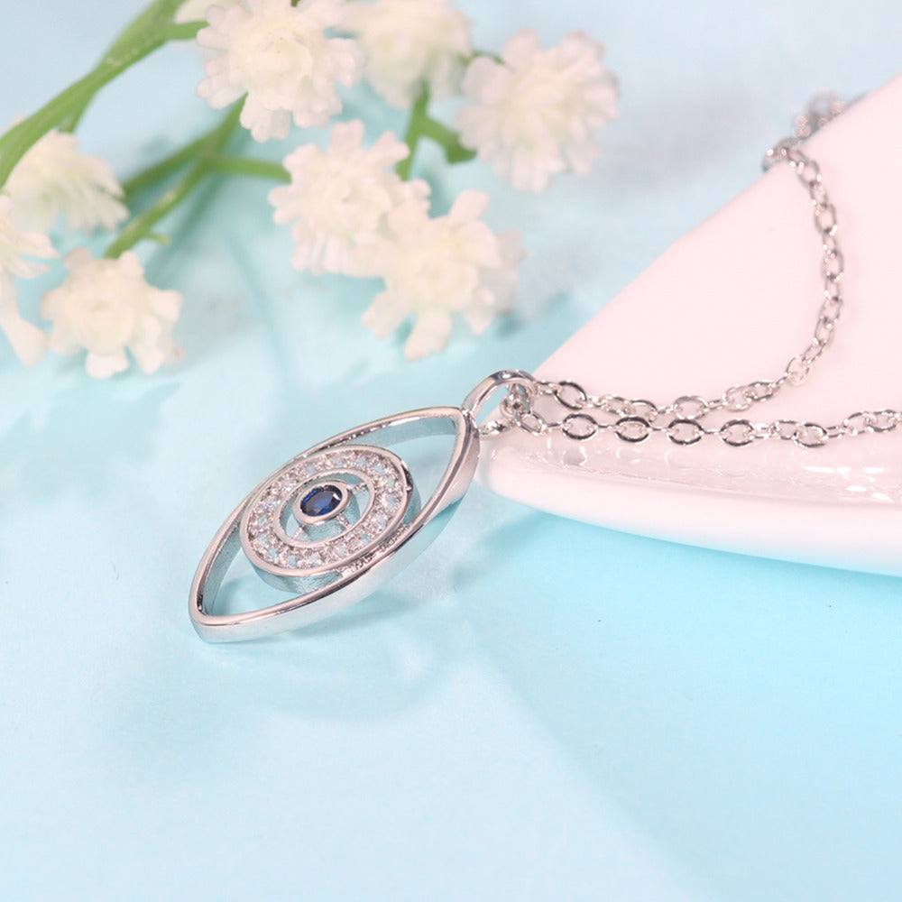 Crystal Evil Eye Necklace - The Creative Booth