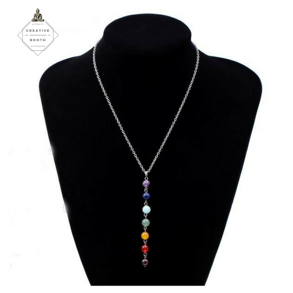 7 Chakras Beads Necklace - The Creative Booth