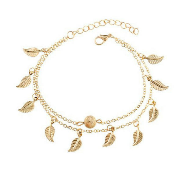 Handmade Bohemian Leaves Anklet - 65% Off! - The Creative Booth