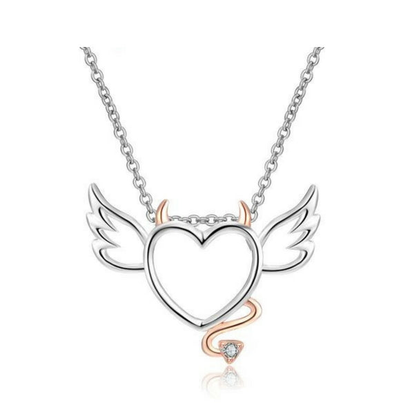 Devil Wings Heart Necklace - 65% Off! - The Creative Booth