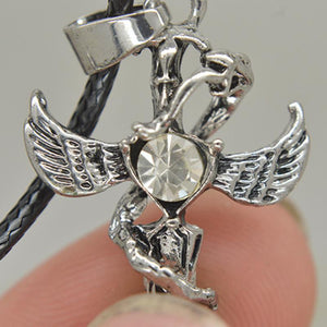 Angel Wings and Devil Cross Necklace - The Creative Booth