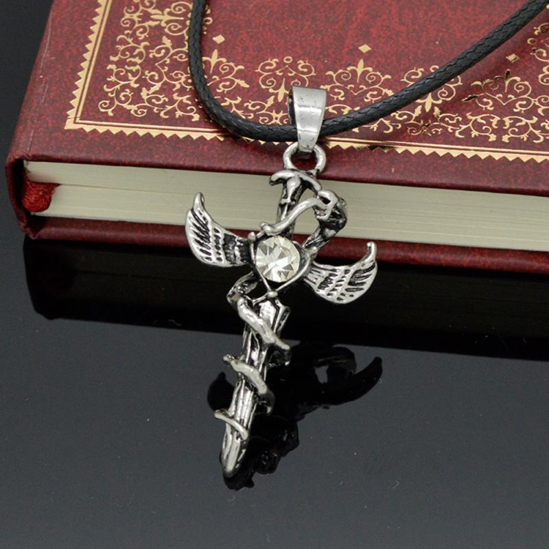 Angel Wings and Devil Cross Necklace - 30% Off! - The Creative Booth