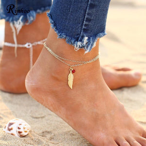 Beach Boho Feather Anklet - The Creative Booth