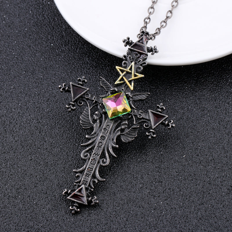 Vintage Gothic Cross Statement Necklace - 65% OFF