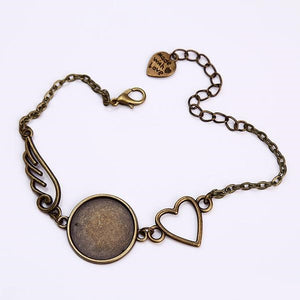 Vintage Heart and Round Wings Bracelet (2 PC) - 35% OFF + FREE SHIPPING