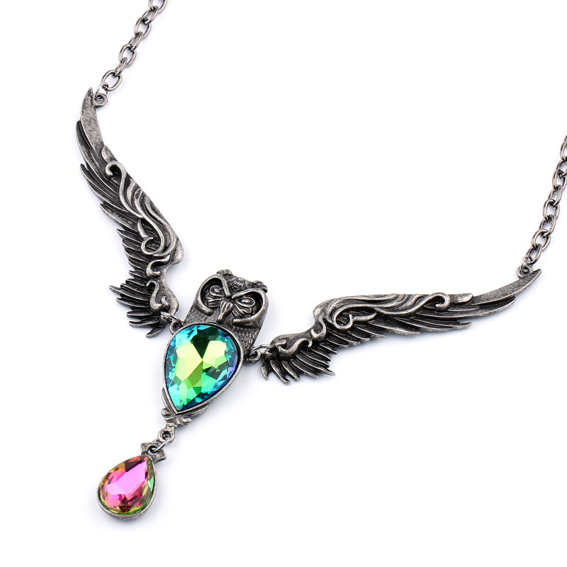Vintage Tear Drop Owl Necklace - 65% Off!