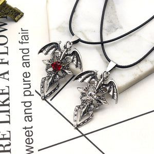 Devil Wings Cross Pendant Necklace - The Creative Booth