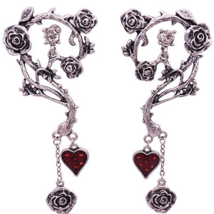 Vintage Red Heart Earrings - Special Offer - The Creative Booth