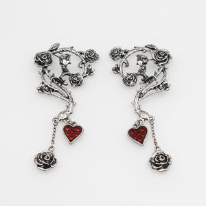 Bloody Heart Rose Earrings - 65% OFF - The Creative Booth