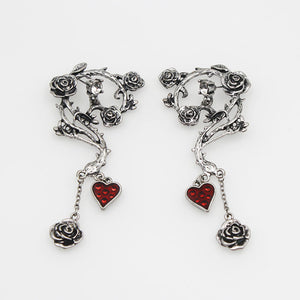 FREE! Vintage Red Heart Earrings - The Creative Booth