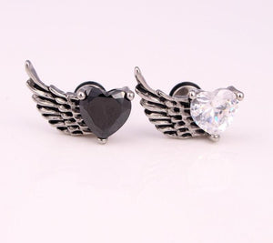 Heart Shaped Feather Earrings - The Creative Booth