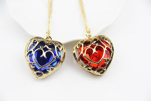 FREE! Vintage Red and Blue Heart Necklace - The Creative Booth