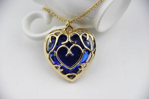 Vintage Red and Blue Heart Necklace - 50% Off