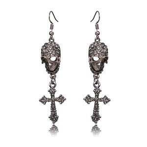 Punk Skeleton Drop Earrings - The Creative Booth