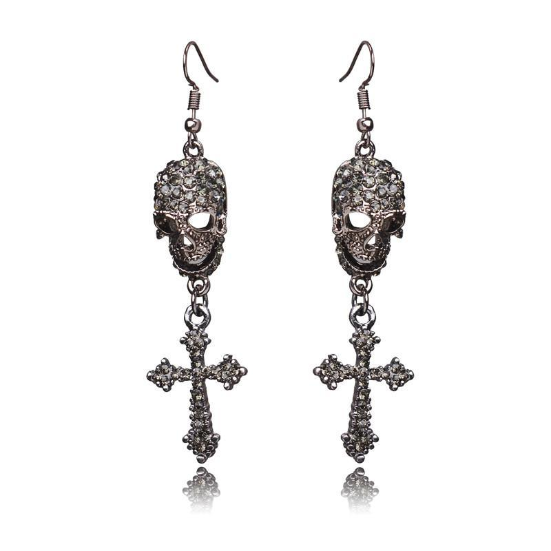 FREE! Punk Skeleton Drop Earrings - The Creative Booth