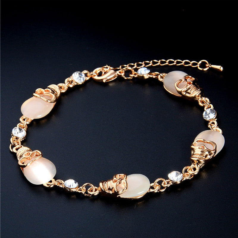 Skull Charm Bracelet - The Creative Booth