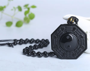 Yin and Yang Obsidian Pendant - 40% Off + Free Shipping!
