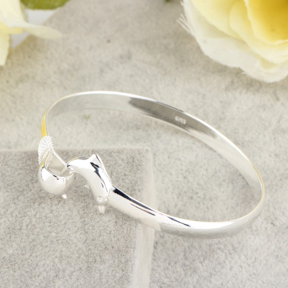 Silver Dolphin Bracelet - Special Offer 60% Off! - The Creative Booth