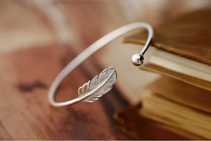 Silver Leaf Bangle - The Creative Booth