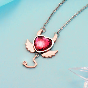 Red Evil Heart Necklace - The Creative Booth