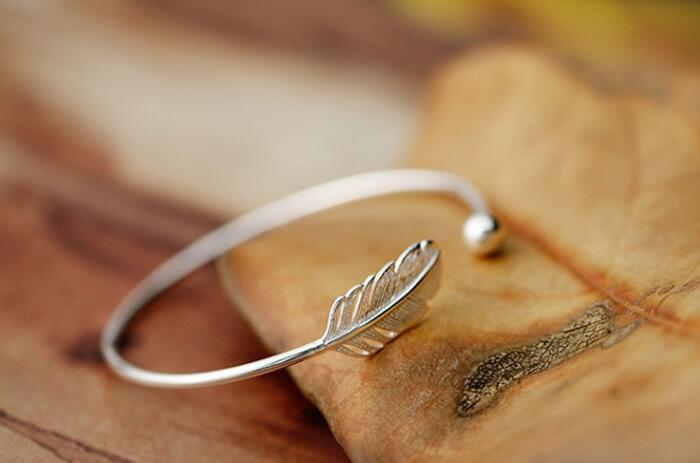 FREE - Silver Leaf Bangle - The Creative Booth