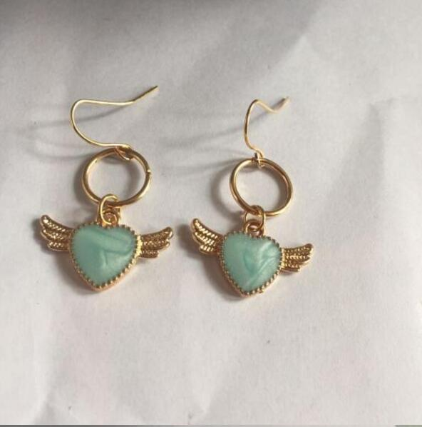 Cute Angel Wings Heart Earrings - The Creative Booth