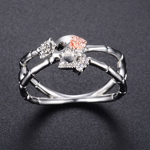 Cross Skull-Rose Flower Ring - The Creative Booth