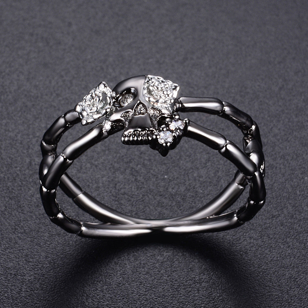 FREE! Cross Skull-Rose Flower Ring - The Creative Booth