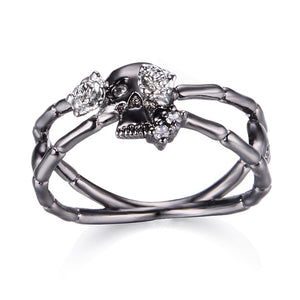 Cross Skull-Rose Flower Ring - 65% Off - The Creative Booth