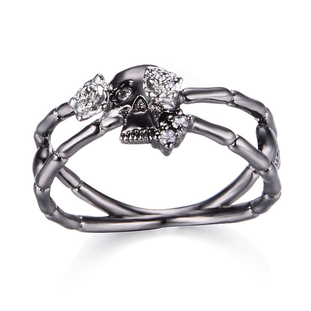 Cross Skull-Rose Flower Ring - 35% Off - The Creative Booth