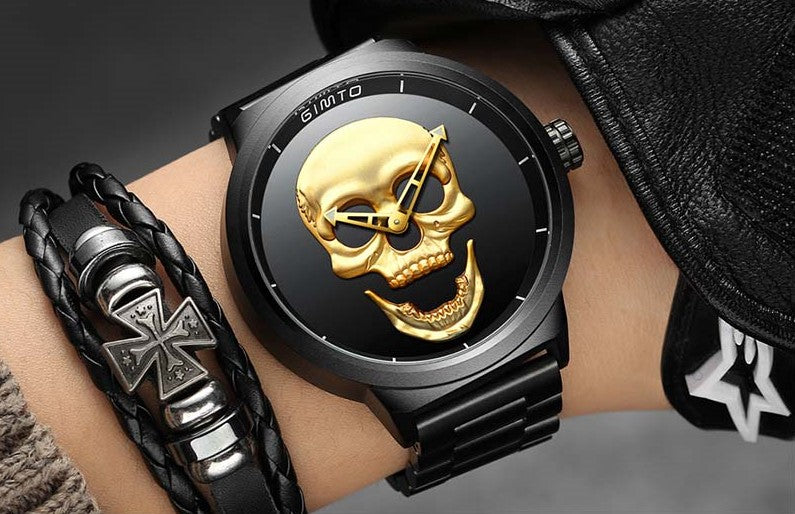 3D Golden Skull Watch - The Creative Booth
