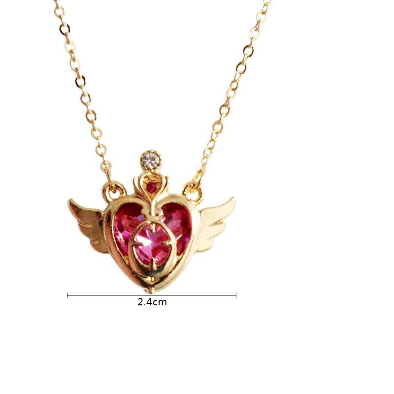 FREE! Red Heart Angel Wings Necklace - The Creative Booth