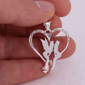 Angel and Demon Heart Necklace - 65% OFF! - The Creative Booth