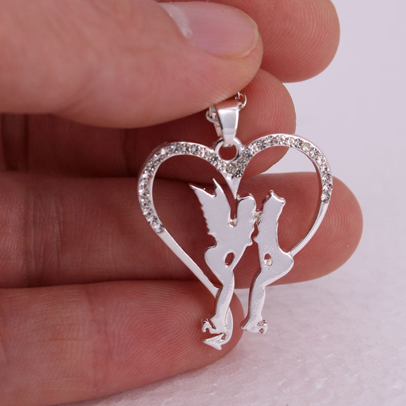 Angel and Demon Heart Necklace - Special Offer - The Creative Booth