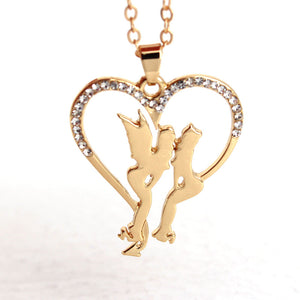 Angel and Demon Heart Necklace - The Creative Booth