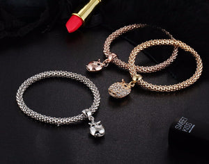 3 Pieces Owl Charm Bracelet - 40% OFF + FREE SHIPPING!