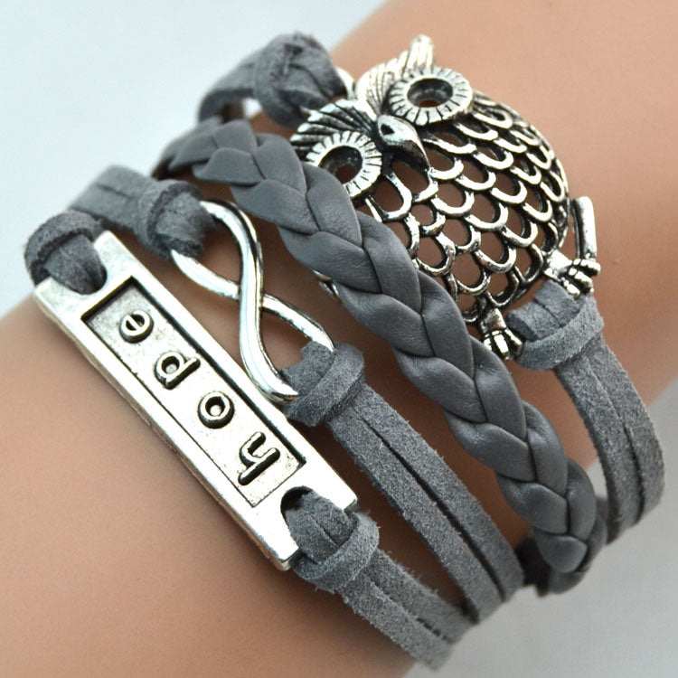 FREE Leather Owl Hope Bracelet - The Creative Booth