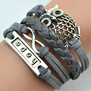 Leather Owl Hope Bracelet - The Creative Booth