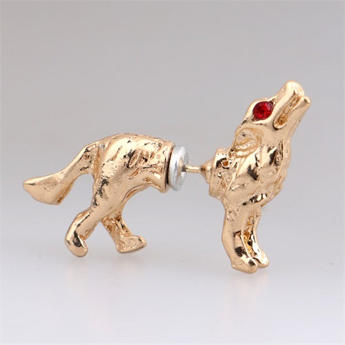 Wolf Stud Earrings - Free Shipping - The Creative Booth
