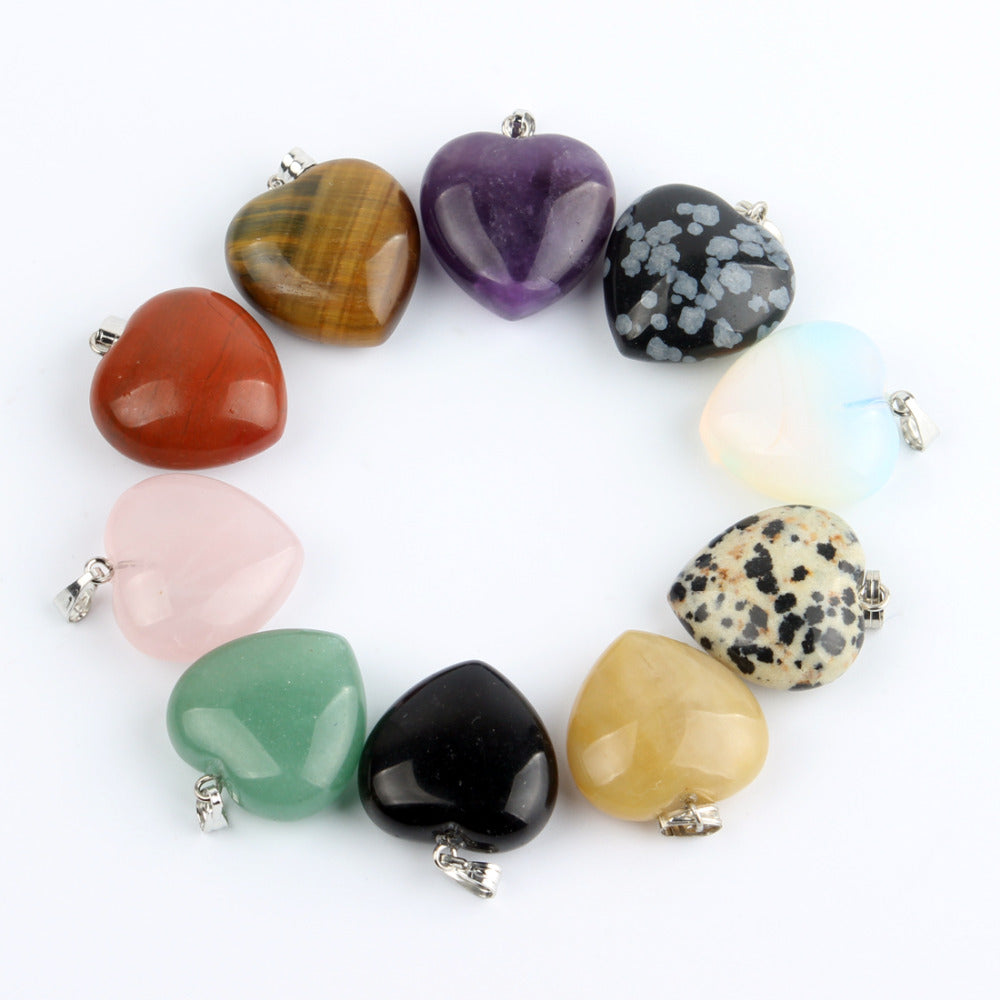 Natural Stone Heart Chakra Healing Pendant - The Creative Booth