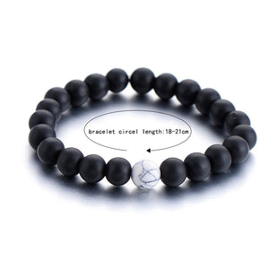 Couples/Best Friend Natural Stone Bracelet - Free Shipping - The Creative Booth