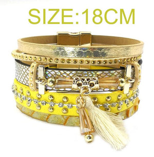 Multi-layer Leather Bracelet - The Creative Booth