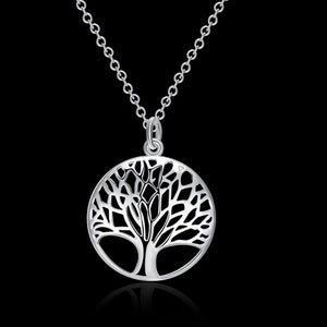 50% Discount: Tree Of Life Silver Plated Pendant - The Creative Booth