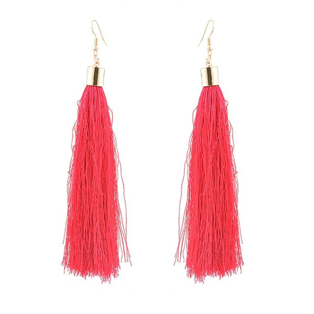 Bohemian Tassel Long Earrings - The Creative Booth