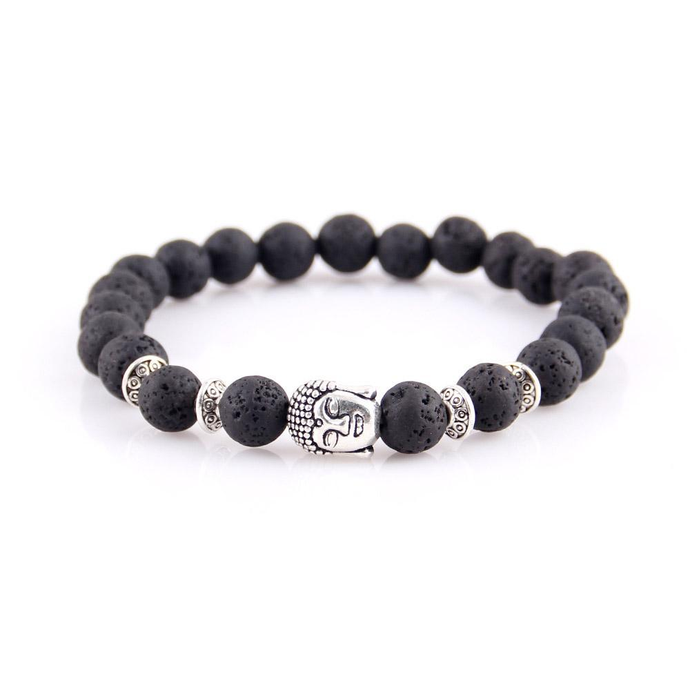 Buddha Head Natural Stone Bracelet - The Creative Booth