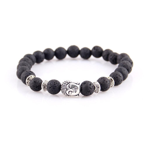 Buddha Head Natural Stone Bracelet