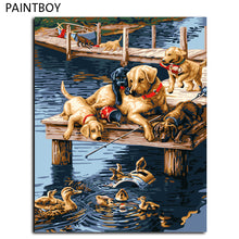 Dogs Painting Framed Picture